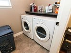 Washer and Dryer. Guests are welcome to do laundry once a week ( for stays longer then 5 days)