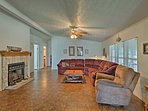 The 2,000-square-foot property offers all the comforts of home.