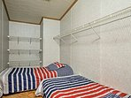 The master closet includes 2 twin beds!