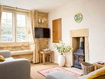 The cottage perfectly blends comfort with traditional character
