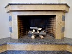 Open fire place