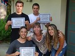 Our Costa Rican/ Italian guests with their first Skydiver Diploma ;-)