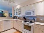 Full sized appliances including dishwasher.
