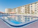 Two large pools one seasonally heated