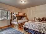 Tahoe Frost  - Third guest bedroom Queen, Twin over Full bunk bed, and trundle