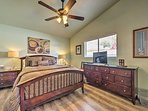 Tune into a show on the flat-screen cable TV in the second bedroom.