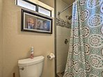 The master bedroom includes the luxury of an en-suite bath.