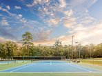 Additional tennis courts