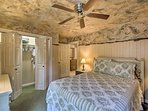 The second bedroom also features a queen bed and storage for your belongings.
