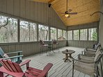 Spend time relaxing on the screened-in porch with a glass of iced sweet tea!