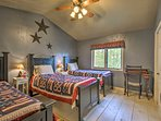 The third bedroom is perfect for the kiddos of the group!