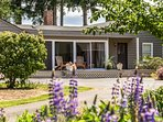 Situated on the shores of Sequim Bay is this lovely vacation rental.