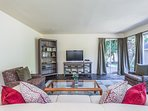 The family room is equipped with a flat-screen satellite TV.