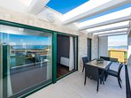 Apartment A4 - terrace with sea view