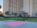 Basket ball court onsite