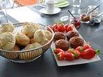 Quelques examples de mon petit déjeuner bio qui varie tous les matins...selon humeur de la chef;)