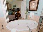 Whirlpool tub hidden behind shutters