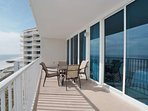 Private balcony overlooking the beach and the Gulf