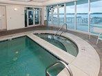 Indoor pool overlooking Little Lagoon