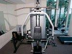 Weight machine in fitness center
