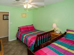 Guest room with ceiling fan