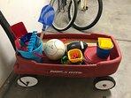 Beach wagon full of toys