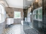 Ensuite with large walk-in rainfall shower
