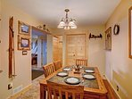 Cozy dining area with seating for 4