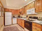 Enjoy tasty home-cooked meals from the comforts of a fully equipped kitchen