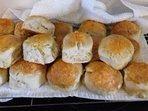 If I know when you are coming I just might have some cheesy or fruit scones ready for your arrival.