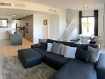 Spacious bright modern lounge