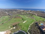 Views of the Calanova Golf course and Mediterranean Sea