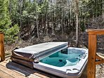Soak in the hot tub to soothe your sore muscles.