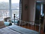 double bedroom overlooking perracoombe