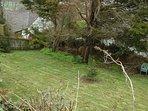 sloping private garden