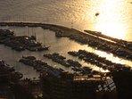 Puerto de Roses al anochecer