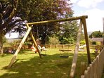 The National Lottery funded playground in the village of Gamblesby, an easy walk from Jennys Croft