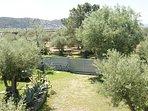 Jardín vallado con puerta con motor y mando a distancia 900 mts2 de jardín,  aparcamiento y barbaoa
