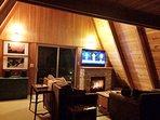Alpine Hideaway-Living Room Flat Screen TV