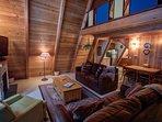 Alpine Hideaway-Living room/ loft