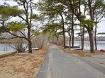 Private association beach at Lake Wequaquet 2 minute walk