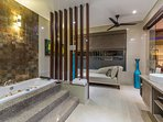 Master suite bathroom with Jacuzzi