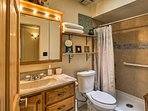 A second bathroom provides you with additional privacy.