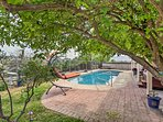 Smell the citrus trees around the private pool!