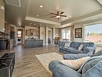 1,650 square feet of living space completes this 3-bed, 2-bath home.