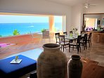 Spacious Living/Dining Room with a gorgeous view