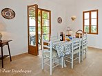 Dining room with doors to terrace - perfect for barbecues