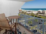 Private balcony with view of beach and Gulf