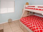 Tiled guest room with Pyramid bunk (twin over double)