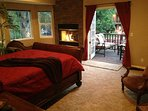 Master Bedroom with large balcony overlooking downtown Willow Glen